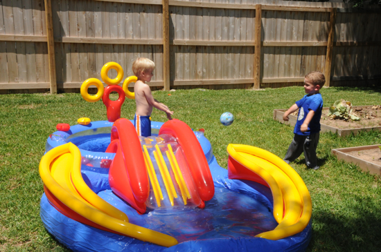 Back yard fun!