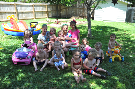 Most of the kiddos!  I was shocked that this group shot turned out so good.