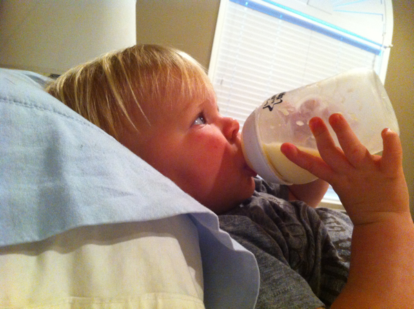 18 months and still drinking out of a bottle.