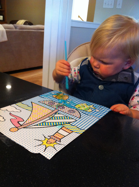 A not so brain numbing activity - paint with water book by Melissa and Doug.