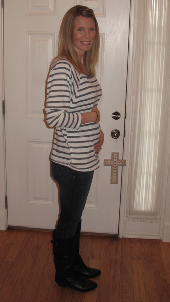 12 weeks!  Second trimester here we come.
