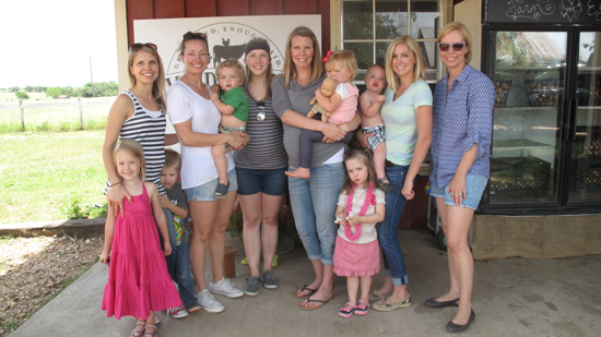 All of the moms and most of our kiddos!