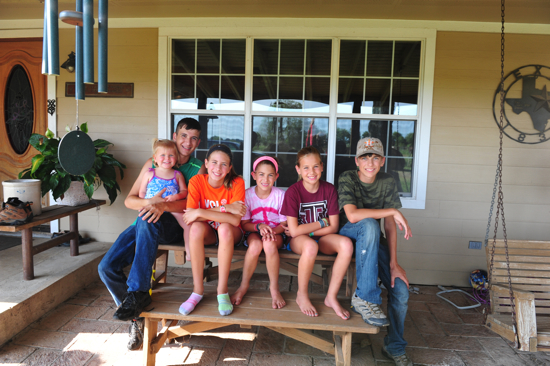Poppyseed with Caleb, Bella, June, Hope, and Micah.