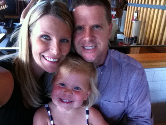 Last night we went out to dinner instead of cooking and took this family selfie.  I just love Poppyseed's little grin!