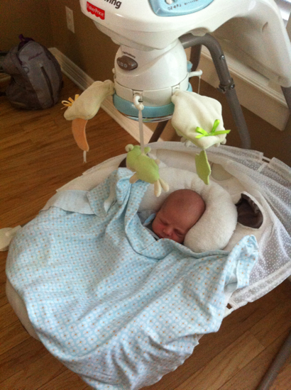 We are getting much more use out of the My Little Lamb swing with this baby.