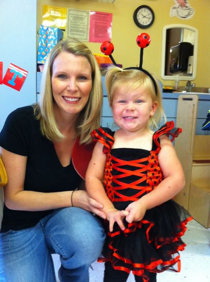 "She wanted to be absolutely anything that involved a ""beautiful dress"" and ""a tutu.""  So there you have it, she dressed up as a ladybug!"