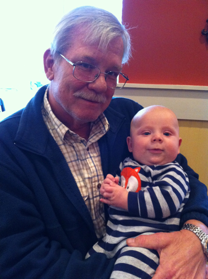 You met my dad, Granddaddy, on your 4 month birthday.