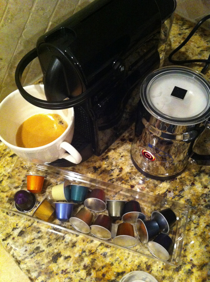 I bought the Nespresso Inissia.  I LOVE it.