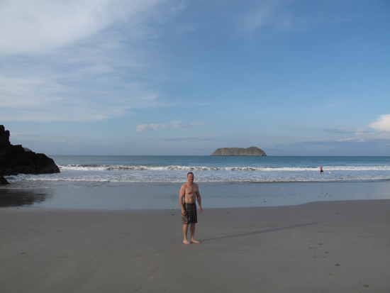 This was another gorgeous beach that we found in Manuel Antonio.  Oatmeal had a lot of fun trying to drown in the ridiculous waves.