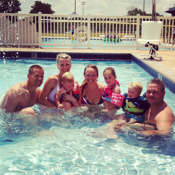 Pool day with the Collins!