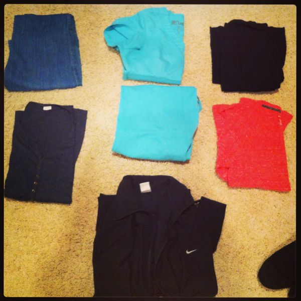 Lola's 7 articles of clothing for 1 week.