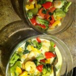 Tonight's supper…. Shrimp and Veggies in Coconut Milk. So, I've never cooked with